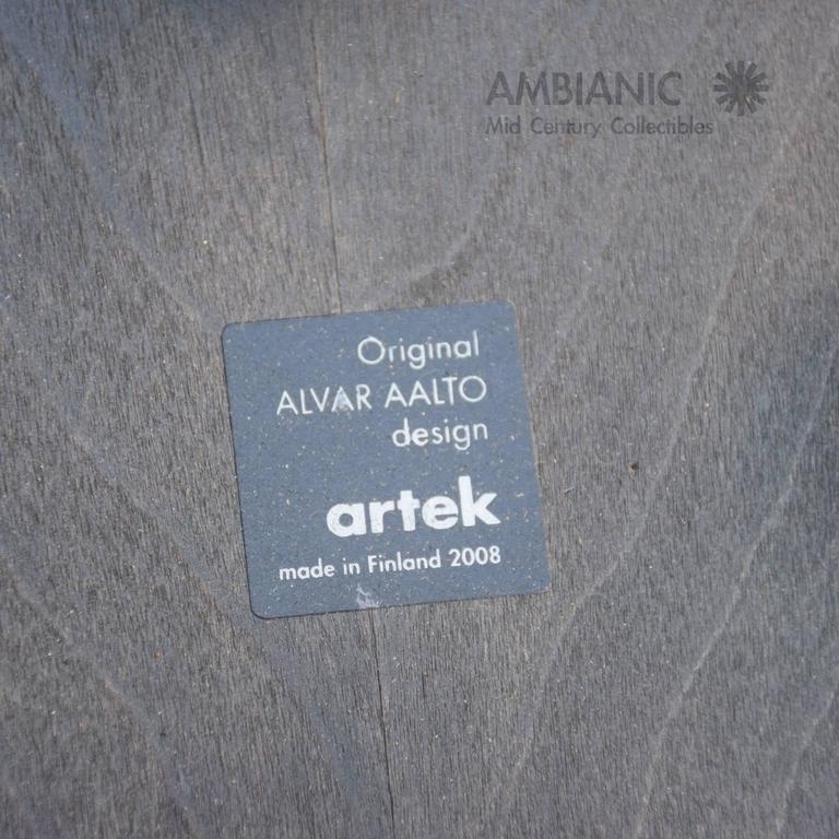 Set of Four Artek Stool by Alvar Aalto, Mid-Century Modern 7