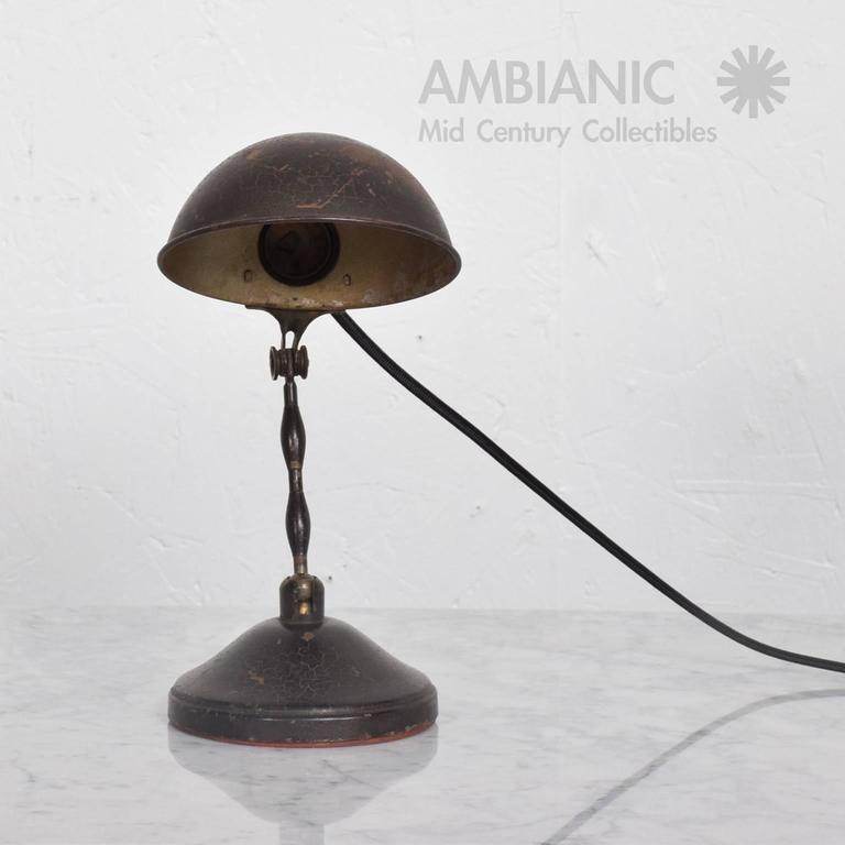Industrial Desk or Wall Sconce Lamp, Mid-Century Period In Fair Condition For Sale In National City, CA