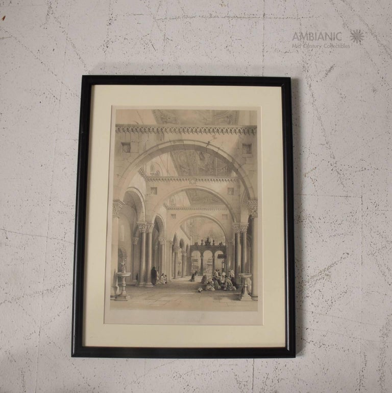 Set of Three Architectural Italian Etchings Framed For Sale at 1stdibs