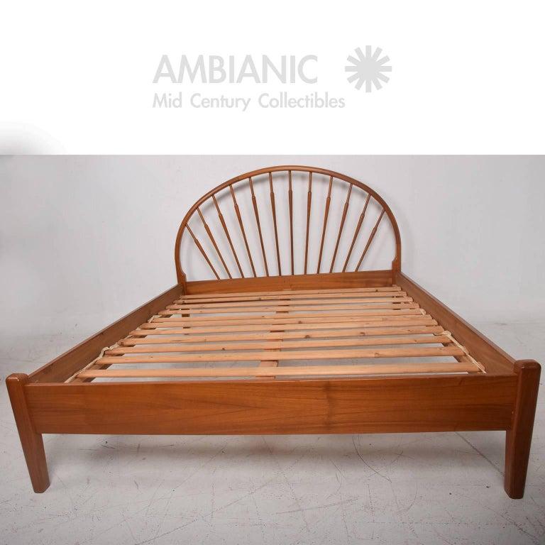 Danish Modern Teak Queen Bed Frame At 1stdibs