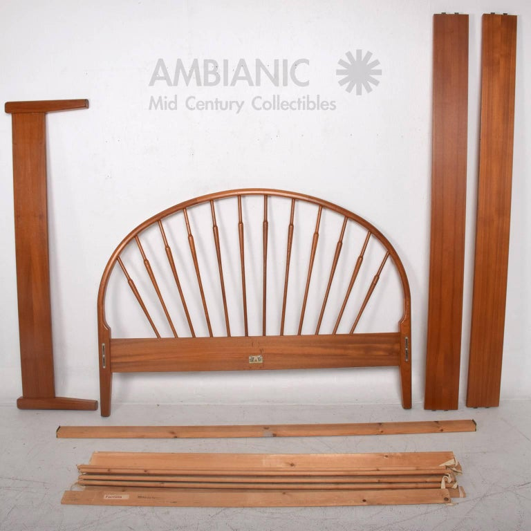 Danish modern teak queen bed frame at 1stdibs for Danish teak bedroom furniture
