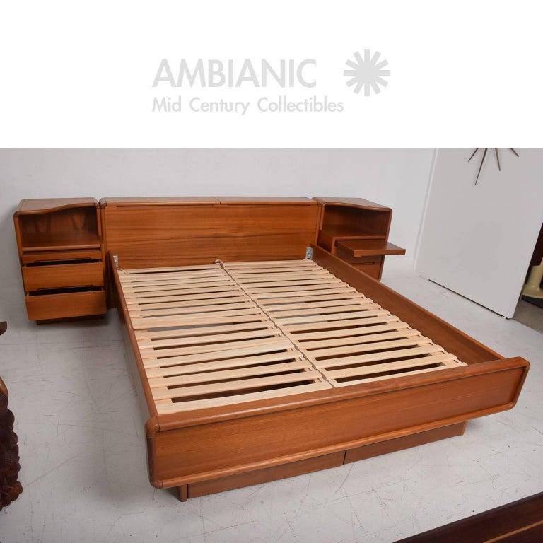 Danish Modern Teak Platform Bed Queen-Size with ...