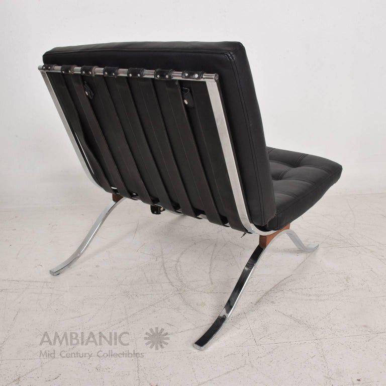 der ani replica van rohe by whi leather chair platinum barcelona ivory aniline mies