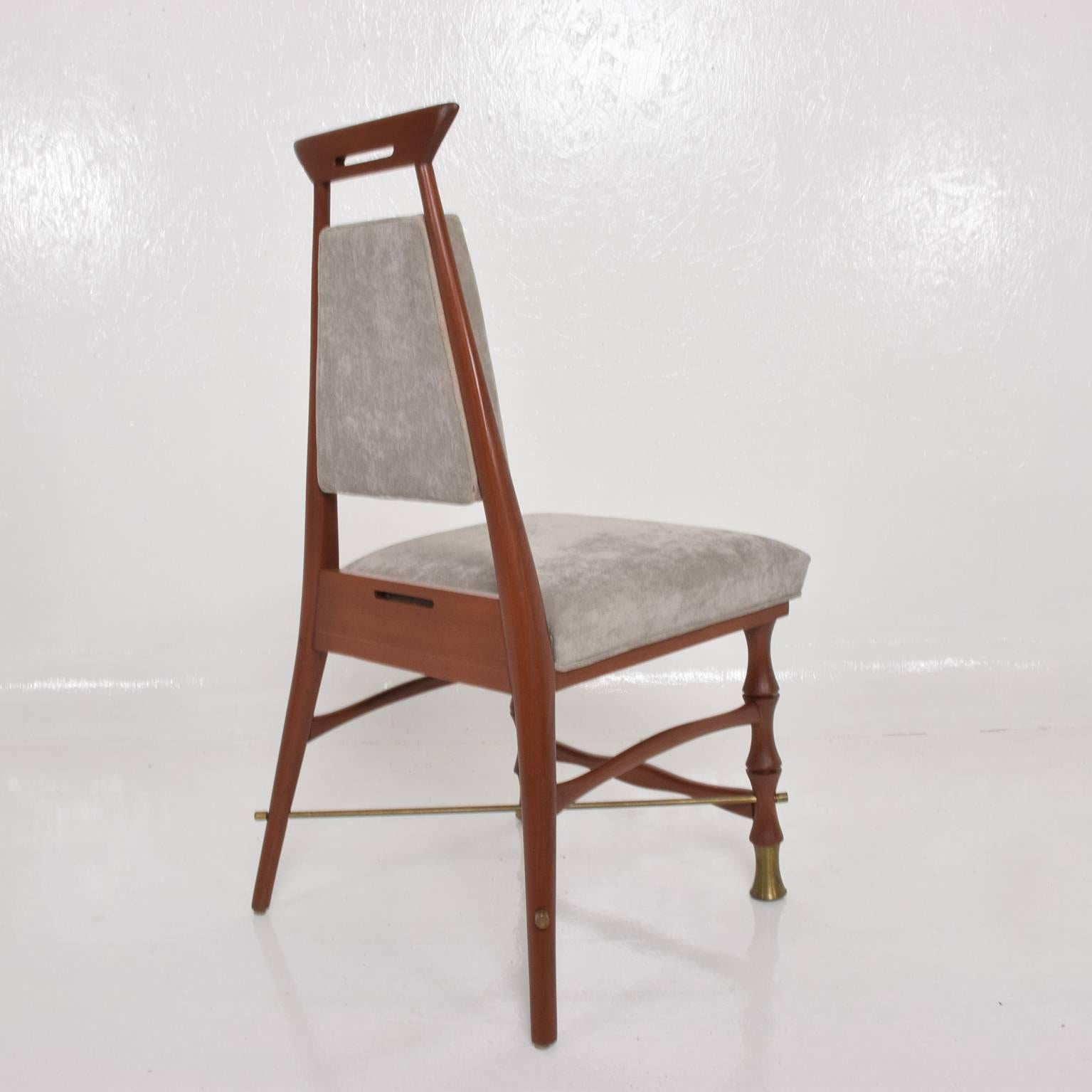 Set of Six Dining Chairs after Frank Kyle, Mexican Mid Century Modern