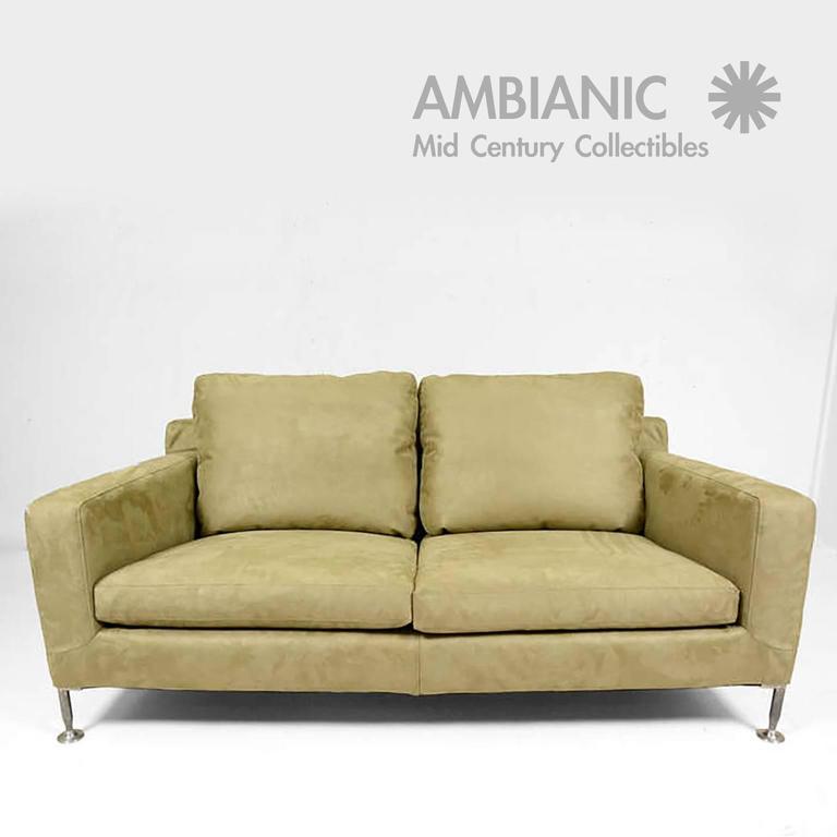 Mid Century Italian Modern B And B Italia Harry Sofa By Antonio