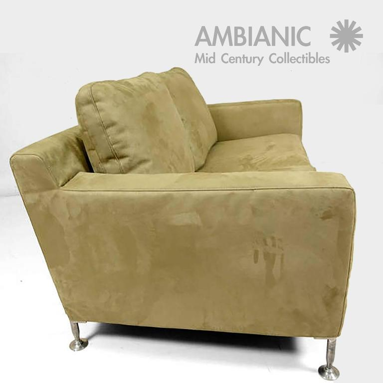 Mid Century Italian Modern B Italia Harry Sofa By Antonio Citterio In Excellent