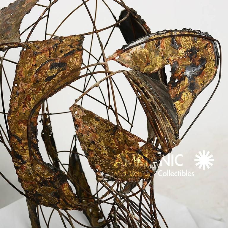 Brass Brutalist Elephant Sculpture John Jagger For Sale