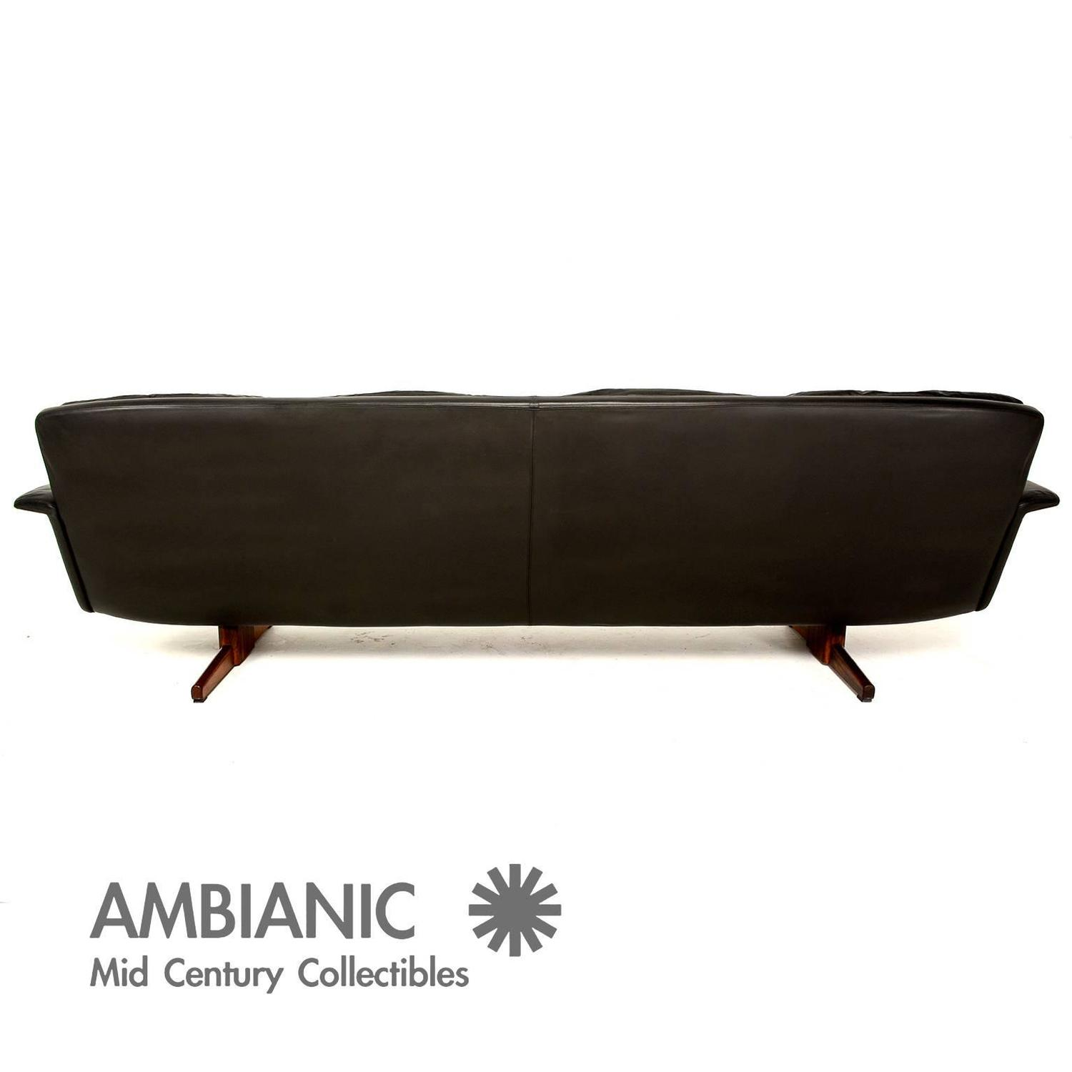 Vatne Mobler Leather and Rosewood Sofa at 1stdibs