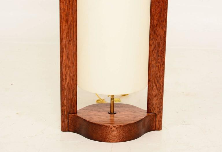 mid century modern walnut wood table lamp for sale at 1stdibs
