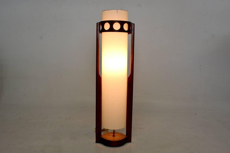 mid century modern walnut wood table lamp for sale at 1stdibs