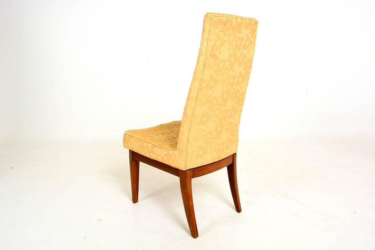Walnut Cal-Mode Dining Chairs, Monteverdi & Young For Sale