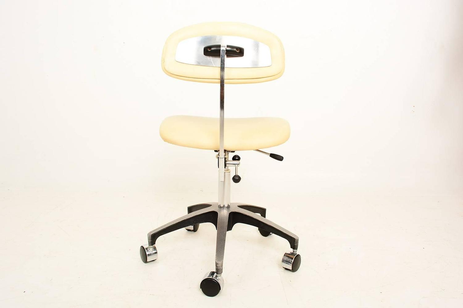 Mid Century Modern Industrial fice Desk Chair For Sale