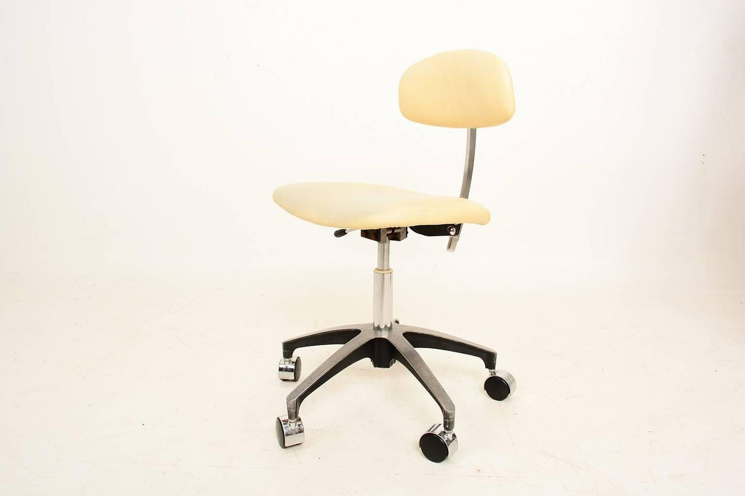 Mid Century Modern Industrial Office Desk Chair For Sale