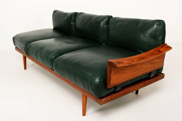 Scandinavian Sofa Set In Rosewood And Leather 2