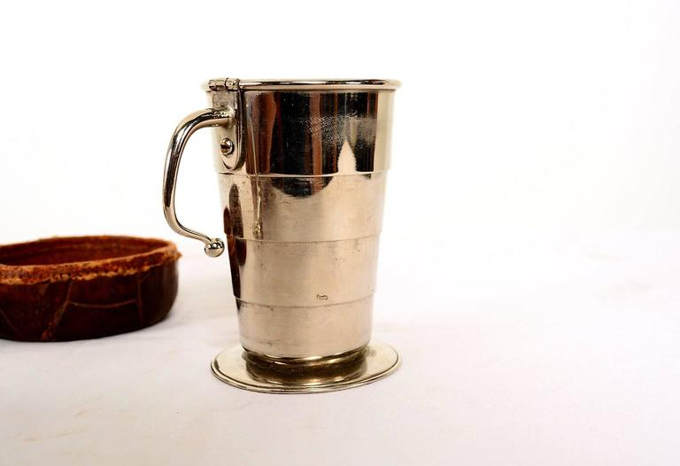 Collapsible Cup Crocodile Leather Case Germany At 1stdibs