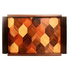 Don Shoemaker Service Tray Tropical Woods Cocobolo
