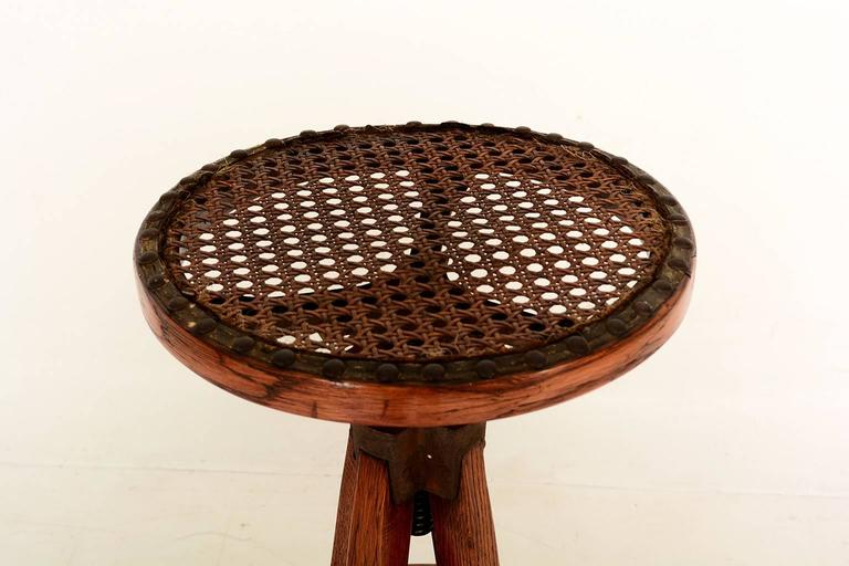 American Industrial Antique Architect's Drafting Stool For Sale