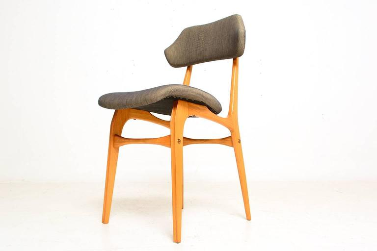 Pair of Italian Side Chairs After Carlo Mollino For Sale 3