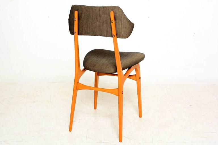 Mid-20th Century Pair of Italian Side Chairs After Carlo Mollino For Sale