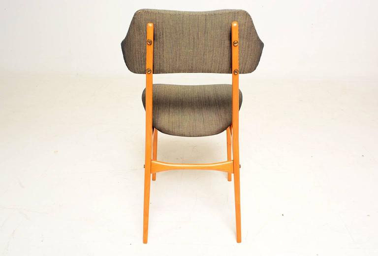 Pair of Italian Side Chairs After Carlo Mollino For Sale 1
