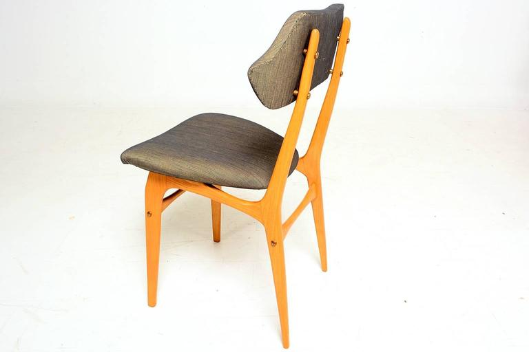 Pair of Italian Side Chairs After Carlo Mollino In Excellent Condition For Sale In National City, CA