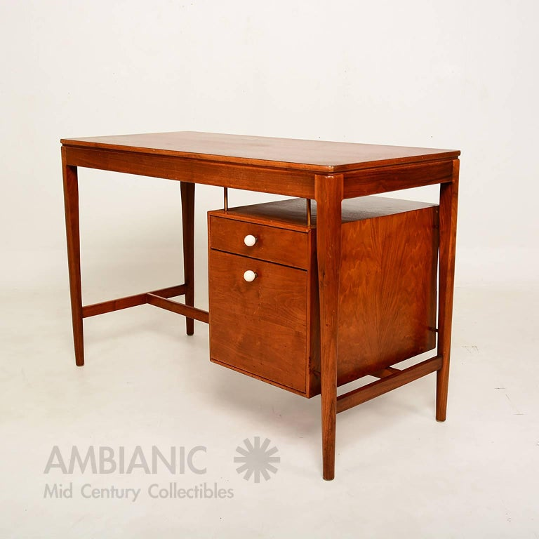 Mid 20th Century Midcentury Walnut Desk By Drexel For