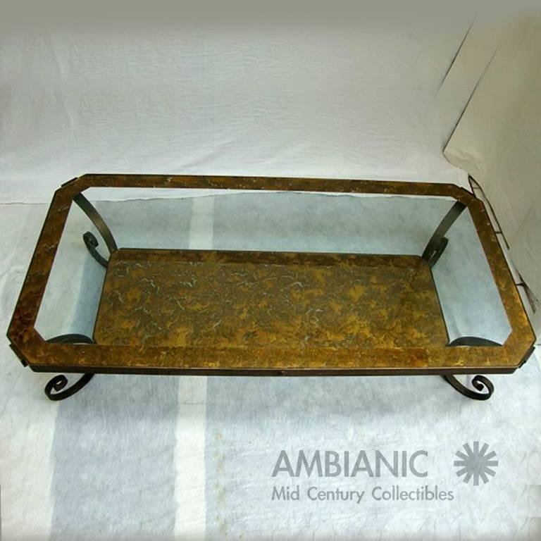 Mid Century Mexican Modernism Brass Coffee Table after Arturo Pani For Sale 2