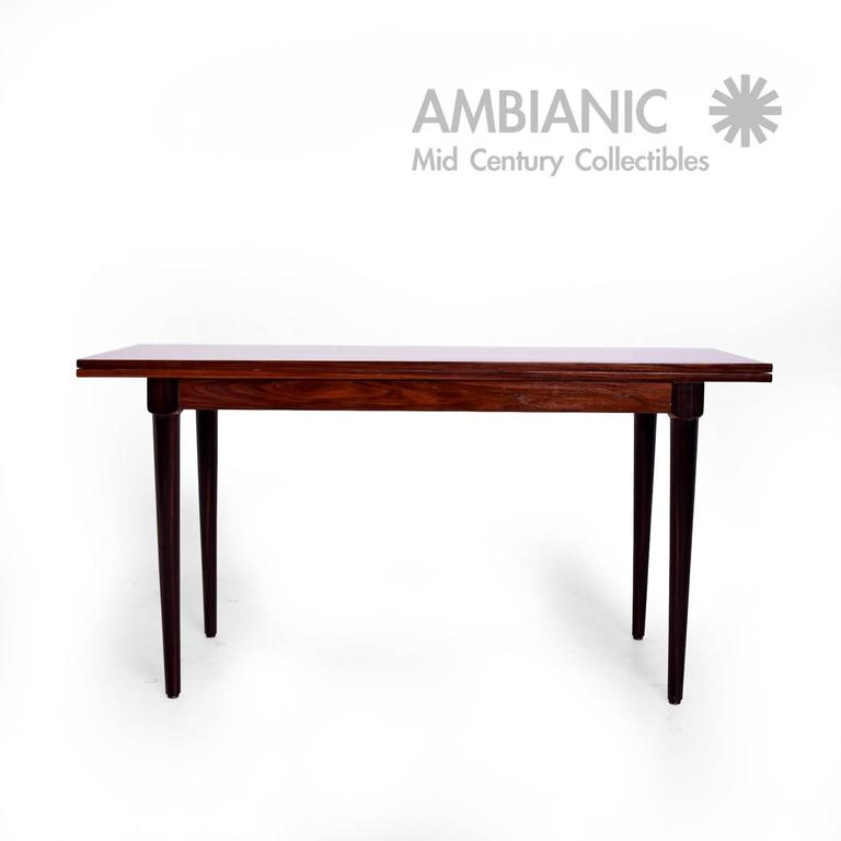Rosewood And Macassar Console Dining Table For Sale At 1stdibs