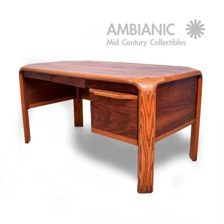 For Your Consideration A Mid Century Modern Desk Attributed To Lou Hodges Walnut With