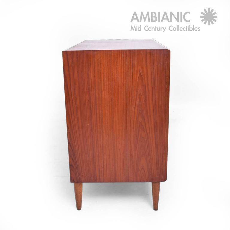 Danish Mid Century Modern Single Dresser Teak Wood, SS Mobelfabrik 3