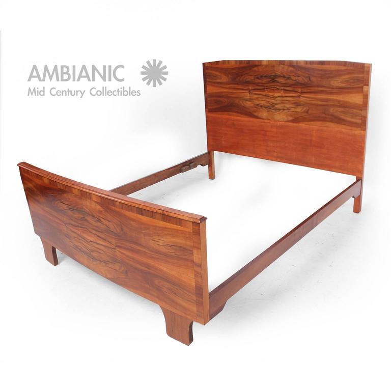 italian bed frame with exotic wood for sale at 1stdibs