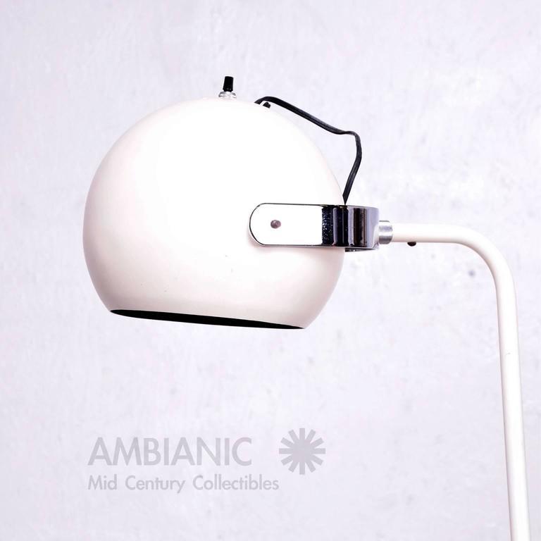 American Robert Sonneman White and Chrome Floor Lamp For Sale