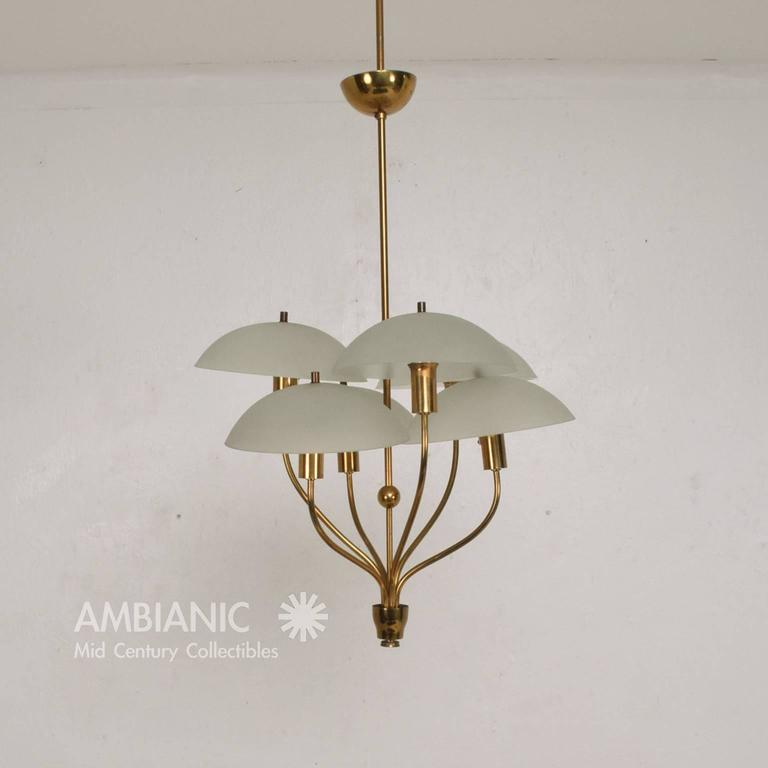 italian hanging chandelier after fontana arte for sale at. Black Bedroom Furniture Sets. Home Design Ideas