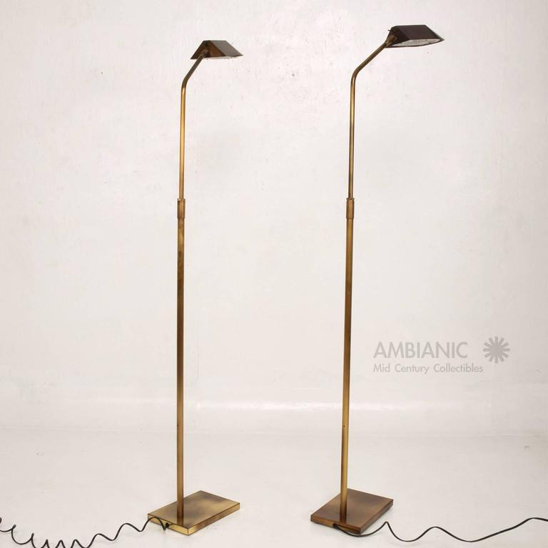 Mid Century Reading Lamp: Pair Of Mid-Century Modern George Kovacs Reading Lamps At