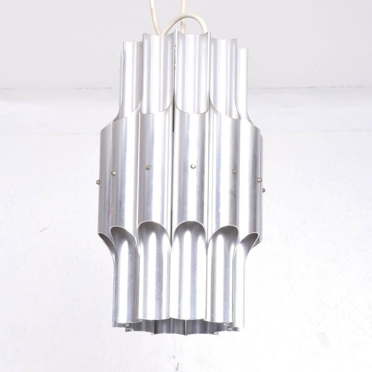 Mid Century Modern European Hanging Fixture Lamp For Sale