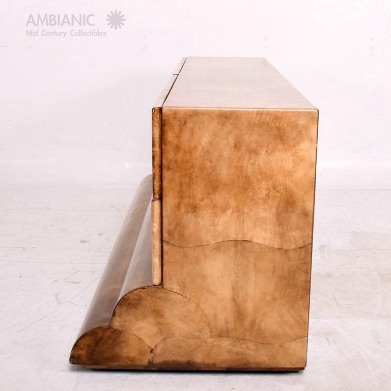 Goatskin Parchment Dresser, Credenza Mid-Century Period after Aldo Tura 3