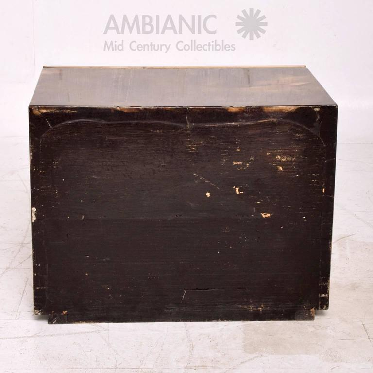 Goatskin Bed Side Table In Good Condition For Sale In National City, CA