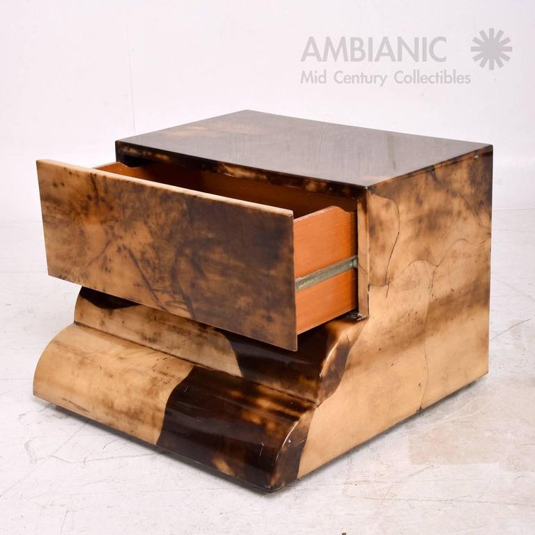 Goatskin Bed Side Table For Sale 1