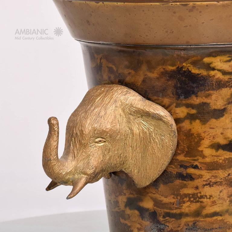 Hollywood Regency Elephant Ice Bucket In Good Condition For Sale In National City, CA