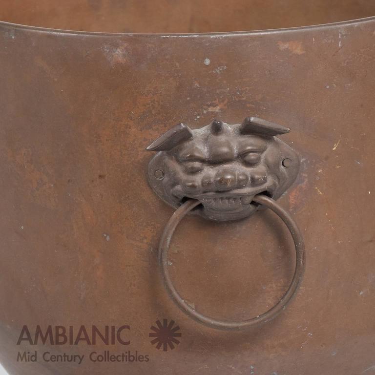 Hollywood Regency Brass Planter Bowl For Sale 3