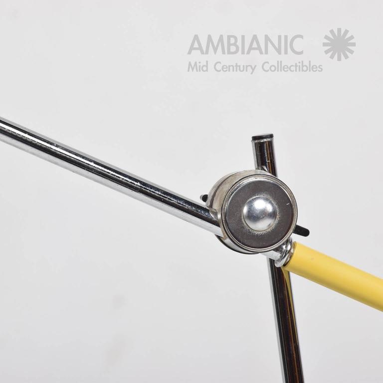 Mid-Century Modern Yellow Table Lamp 8