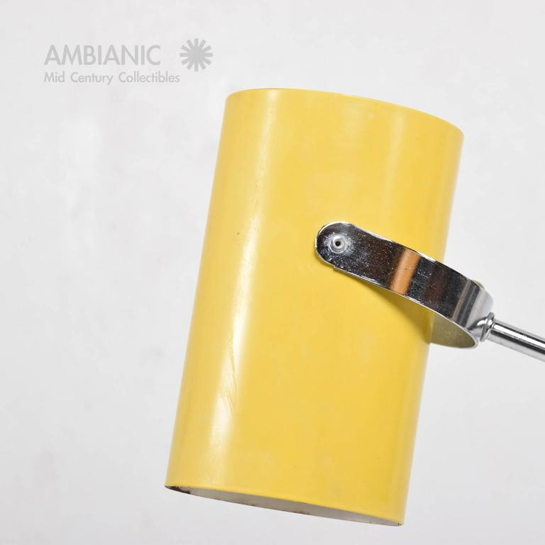 Mid-Century Modern Yellow Table Lamp 4