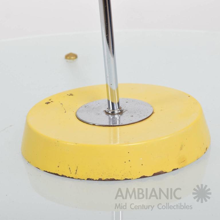 Mid-Century Modern Yellow Table Lamp 6