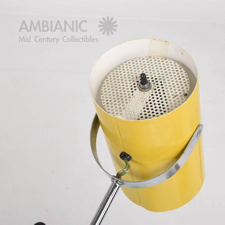 Mid-Century Modern Yellow Table Lamp 9