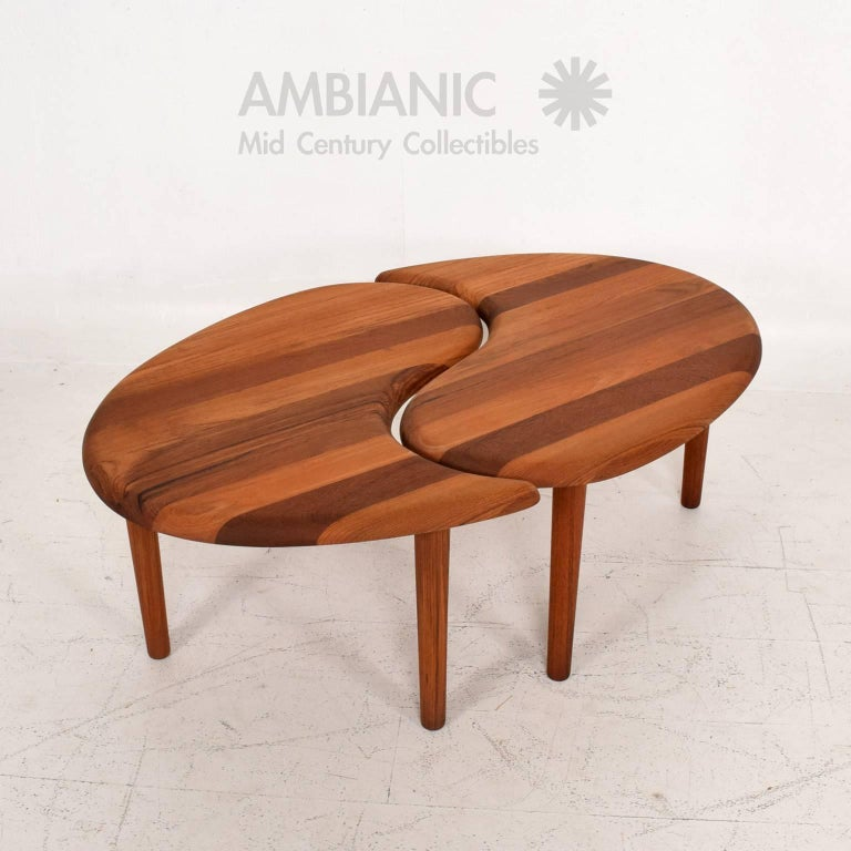 Scandinavian MidCentury Modern Solid Teak Side Coffee Table For - Coffee table no legs