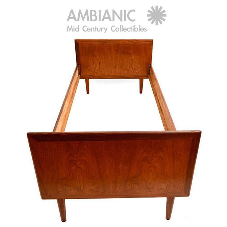Danish Modern Teak Single Bed At 1stdibs