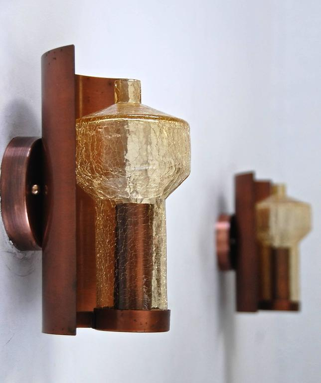 Six Kaiser Leuchten Sconces from Germany In Excellent Condition For Sale In Los Angeles, CA