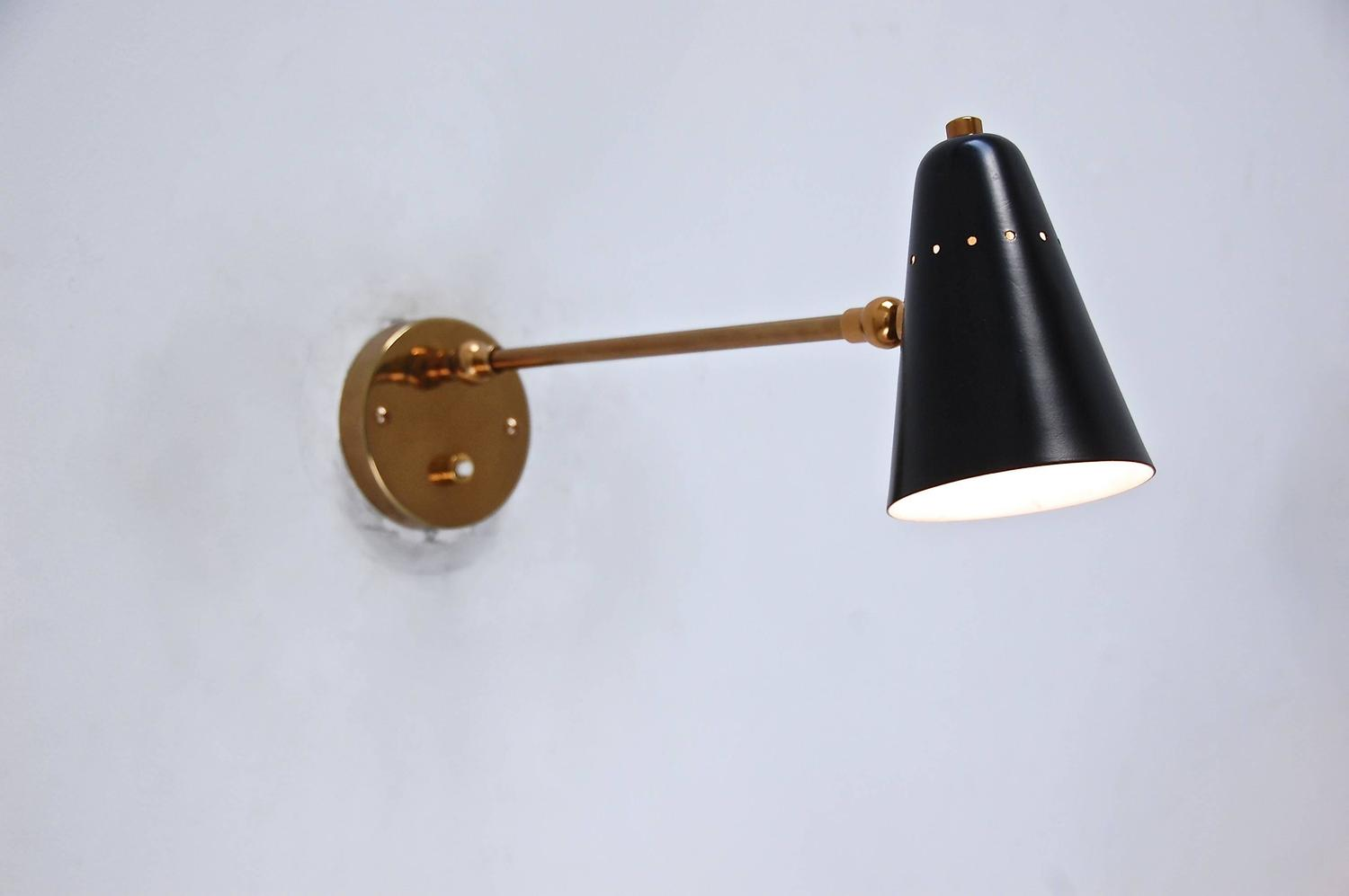Wall Sconces For Reading : Articulated Reading Sconce at 1stdibs
