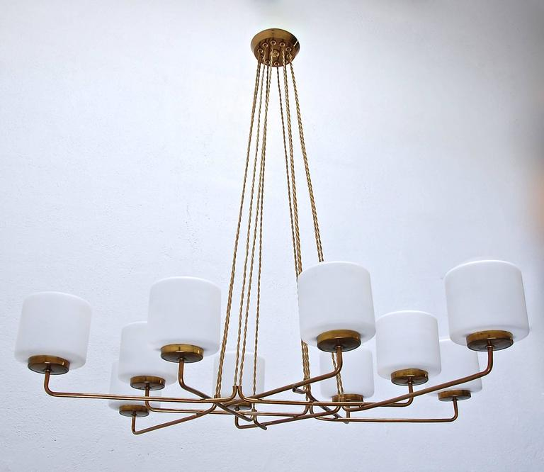 Modern Arm Chandelier: Multi Arm Italian Mid-Century Chandelier At 1stdibs