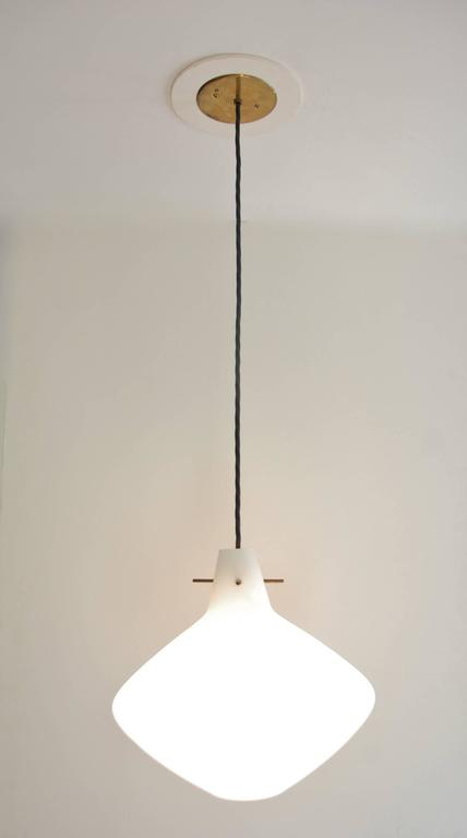 Stilnovo Glass Pendants In Excellent Condition For Sale In Los Angeles, CA